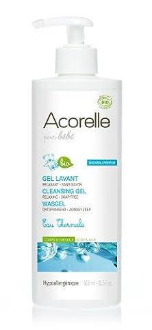 Acorelle Hygiène & Soin Bébé Gel Lavant Relaxant Corps et Cheveux Bio 400 ml