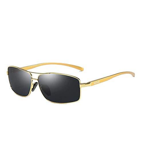 Easy Go Shopping Polarisierte Linse Wellington Sonnenbrillen Tasche Cross Set UnisexSonnenbrille Brille Sonnenbrillen und Flacher Spiegel (Color : Gold, Size : Kostenlos)