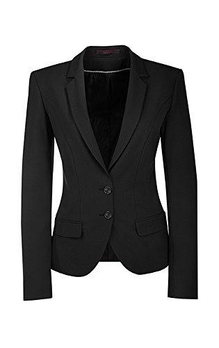 Greiff Damen-Blazer PREMIUM, Stretch, Slim Fit, 1411, schwarz, Größe 38 (Stretch Wolle Blazer)
