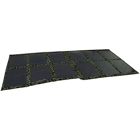 GGX eenergy 120Watt pieghevole pannello solare caricabatteria per batteria per auto, 12V/Accumulatore/Laptop/computer mono Solar Cell (Verde Mimetico)