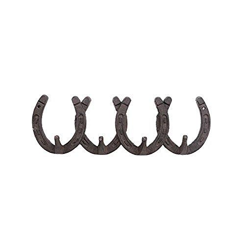 Western Hufeisen Gusseisen vier Haken Wand Rack (Liebe Coat Rack)