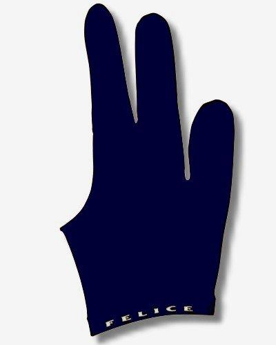 Billard-Handschuh, FELICE 'DUNKELBLAU', für rechte und linke Hand, einer der beliebtesten Profihandschuhe aus den USA