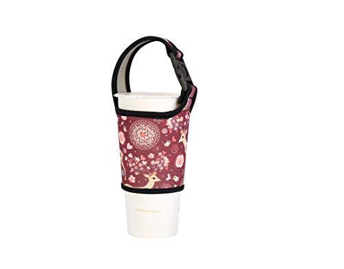Wärmedämmung Handheld Kaffee Sleeve , Travel Tasse Sleeve , wiederverwendbar Kaffee Sleeve Color Brown deer