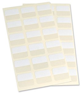 3L 25mm selbstklebende Index Register–Weiß (72Stück)