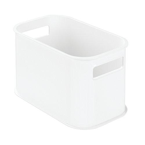 InterDesign 09554EU Peyton Stapelbarer Badezimmer-Organizer , Plastik, weiß, 25,4 x 15,24 x 15,75 cm