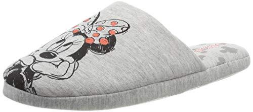 Disney Damen Minnie Mouse Pantoffeln, Grau, 37 EU
