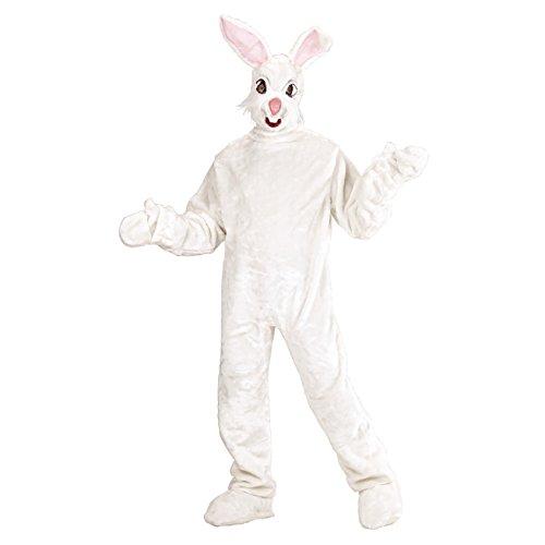 WIDMANN 2751Y - Costume da Coniglio, in Peluche Bianco, Taglia Unica