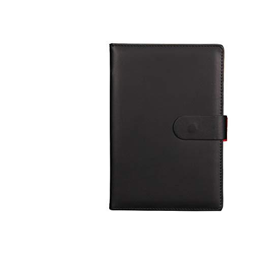 Leder Notizbuch - Geschäftsnotizbuch/Notizblock, Besprechungsnotizbuch, liniert/klassisch, mit Taschen- und Stifthalter, 100 Blatt 80 g Daolin-Papier 150 * 220 mm (Beliebte 80's Kostüm)