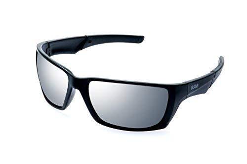 Ravs schwarze Sonnenbrille XXL Gläser inklusive Softbag Top Gun Style