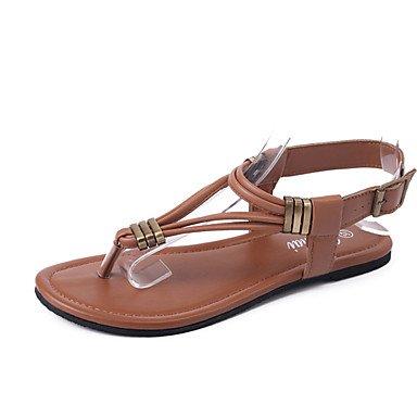 Donn's sandali Comfort estivo PU Casual tacco piatto fibbia a piedi US6.5-7 / EU37 / UK4.5-5 / CN37