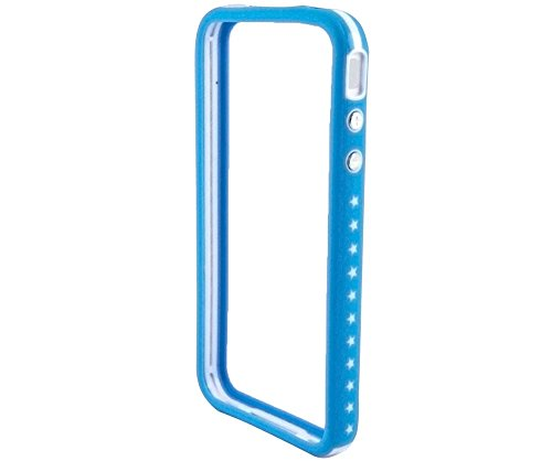 Film de protection d'écran pour Apple iPhone 4 / 4S /4G - Transparent Bumper Frame - Bleu foncé