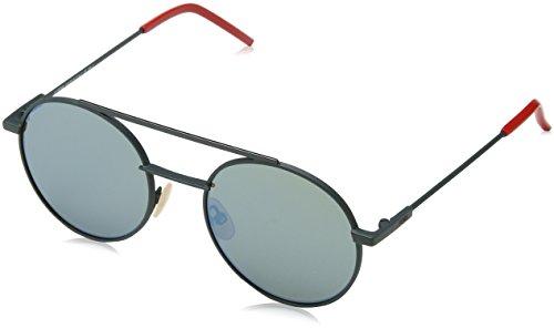 Fendi Herren FF 0221/S 3U 1ED Sonnenbrille, Grün (Green/Khaki Grey Speckled Blue), 52