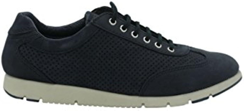 FRAU FX 51E7 Navy Blu Scarpe Donna Sneakers Pelle Forato