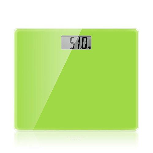 Scales RTC Elektronische Waagen USB-Ladewaage Menschlicher Körper Präzise Gewichtsskalen Gewichtsskala Verlieren (Farbe : Grün)