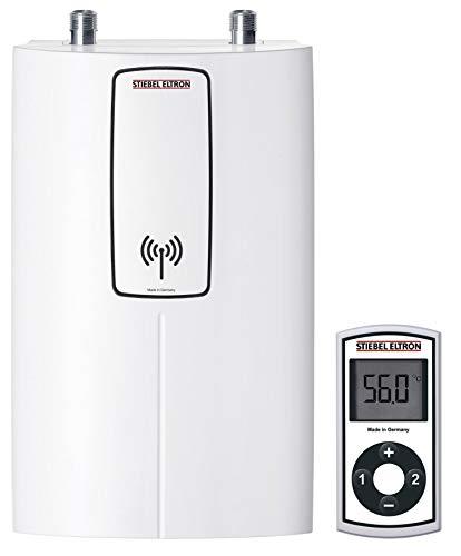 STIEBEL ELTRON elektronisch geregelter Kompakt-Durchlauferhitzer DCE 11/13 compact RC mit Fernbedienung, wählbare Leistung 11 oder 13,5 kW, Küchenspüle, 230771