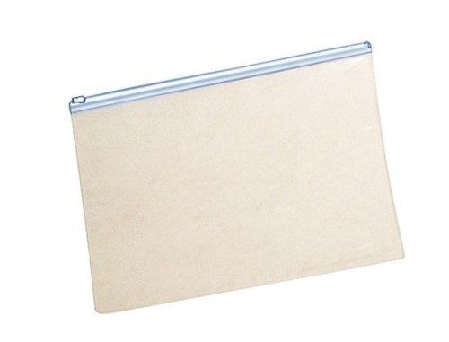 Klarsicht-Sammelbeutel 255x360mm, Plastik-Zip, PVC, Zipp weiß, 10 Stück
