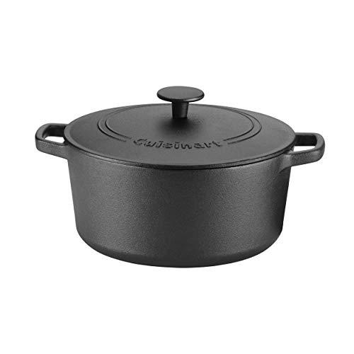 Cuisinart Bratpfanne mit Griffen 5 Qt Covered Casserole Cast Iron Black