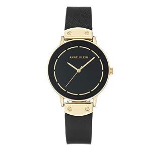 Anne Klein AK/3224BKBK – Reloj de pulsera analógico para mujer (mecanismo