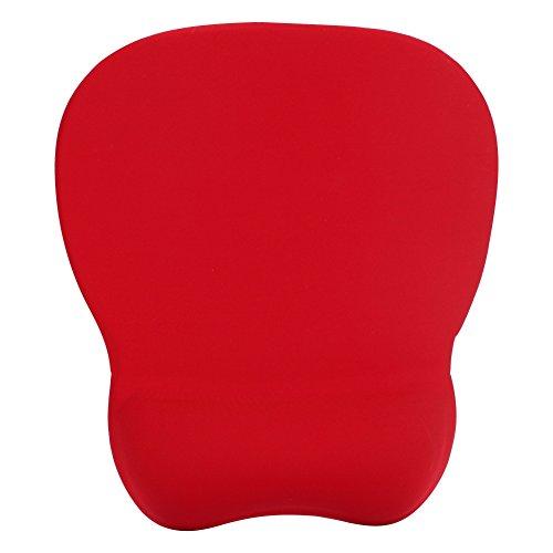 Mauspad mit Handauflage Handgelenkauflage Mousepad Rot Ergonomisches Mausunterlage mit Rutschfester Silikonbasis Schreibtischunterlage für Büro Zuhause Mauspad für Laptop Gaming Computer