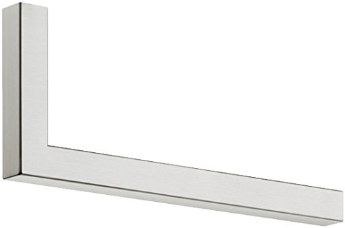 Moderne Wandgarderobe Paneel & Flur - H7005 Garderobenbügel Edelstahl Garderobenstange L-Form | Länge 300 mm | Kleiderbügelhalter für Wand & Boden-Montage | MADE IN GERMANY | Möbelbeschläge von GedoTec®