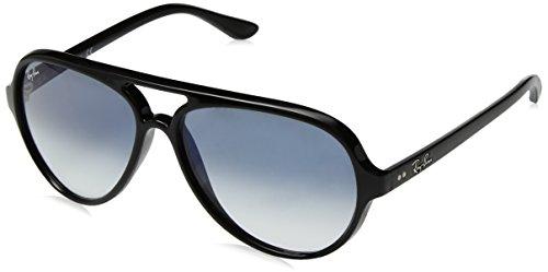 Ray-Ban RAYBAN Herren Sonnenbrille 4125 Black/Cleargradientblue, 59