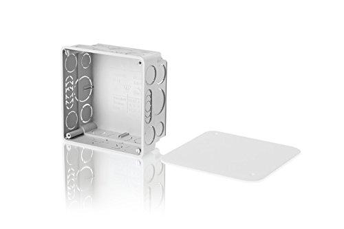 f-tronic Unterputz-Abzweigkasten, 50mm tief, 100x100mm, E141, Inhalt: 10, Stück