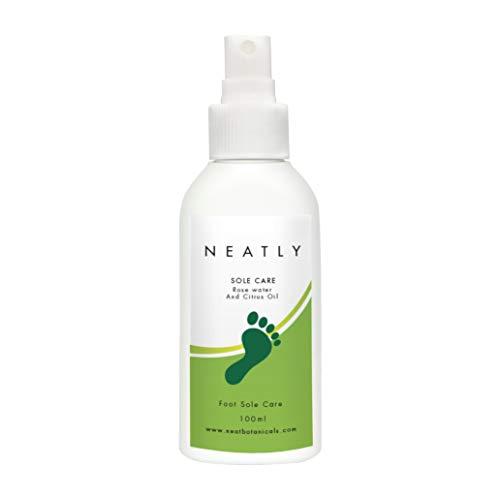 Hornhaut Entfernung von Neatly Sole Care   Fußpflege Spray 100ml   Mit Pfefferminzöl & Zitronenöl   Alternative zur elektrischen Hornhaut-Entfernung