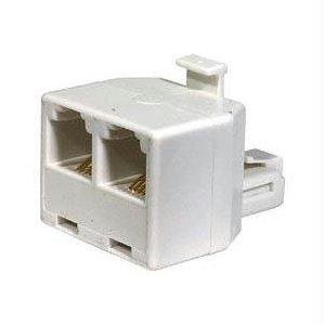 300-024WH-10 4-Conductor Telephone Adapters - White -