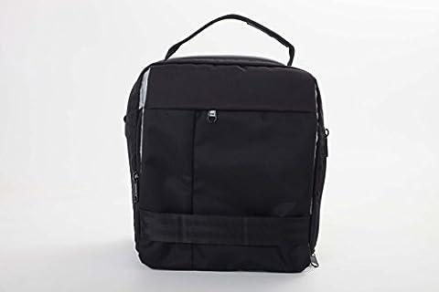 vhbw Polyester Kamera-Rucksack schwarz-rot für Nikon D50, D500, D5100, D5200, D5300, D5500, D70, D700, D7000, D70s, D7200, D80, D800, D800E, D810a