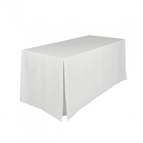 Gastro Uzal Konferenz Tischhusse, Hussen Biertischhusse für Konferenz, Hochzeit und Event weiß 140...