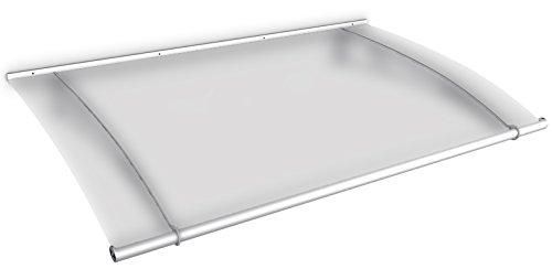 Schulte Vordach 150x95 cm Haustür Überdachung Edelstahl rostfrei Acrylglas Durchgehend und milchig...