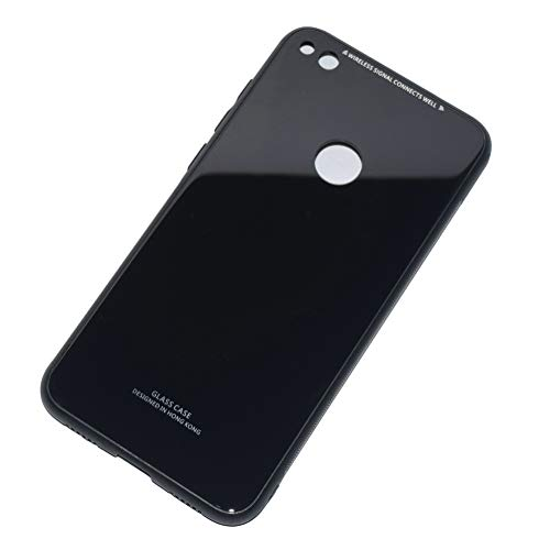 Kepuch Quartz Huawei P8 Lite 2017 / Nova Lite / GR3 2017 / Honor 8 Lite Hülle - Weiches TPU + Rückseite Aus Gehärtetem Glas für Huawei P8 Lite 2017 / Nova Lite / GR3 2017 / Honor 8 Lite - Schwarz
