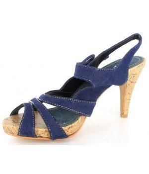 Top or - Sandales femme bleues - 1014-7 Bleu