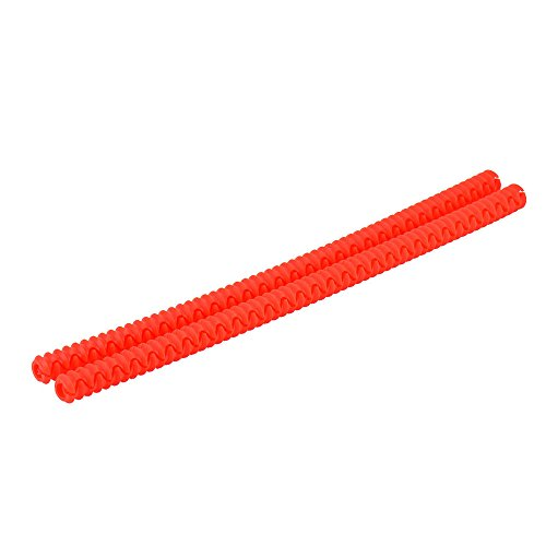 Tonsee The Original Heat Resistant Silicone Oven Rack Guard Red Set Of 2 Helps Avoid Burns