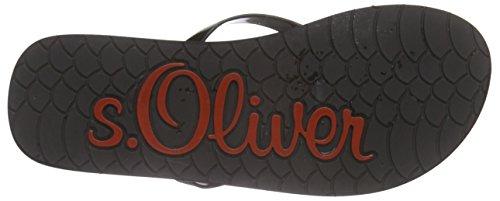 s.Oliver - 27112, Sandali infradito Donna Nero (Nero (Black Patent 018))