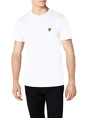 Scott Weiß Logo (Lyle & Scott Herren Crew Neck T-Shirt, Weiß (White 626), Medium)