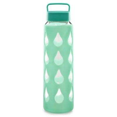 Lakeland–Botella de agua de vidrio de color turquesa confunda de