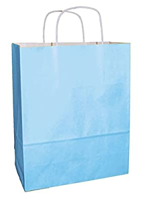 20 Thepaperbagstore COLOUR TWIST HANDLE PAPER CARRIER BAGS - CHOOSE YOUR SIZE AND COLOUR