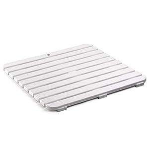 tarima flotante blanca: Tatay 5530001 Tarima Ducha, Blanco, 55 x 3 x 55 cm