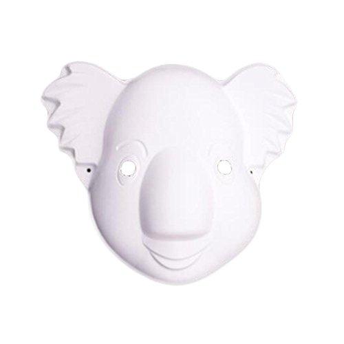 10 Stück weiße Maske DIY Kostüm Maske Koala Maske Malerei Maske Papier leere Maske