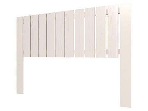 LA WEB DEL COLCHON Cabecero de Madera Rústico Córcega (Cama 150) 160 x 100 cms. Blanco nórdico Incluye herrajes para Colgar con regulador de Altura Completamente montado Salvo fijación a Pared