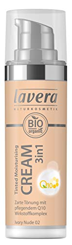 Lavera Tinted Moisturising Cream 3in1 Q10 -Ivory Nude 02, 30 ml