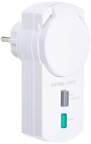 Extol Light Funksteckdosen für Außenbereich Norm IP44 ohne Fernsteuerung, maximal 3680 W, LED Kontrolllicht, 2er Set, 1 Stück, weiß, 43803