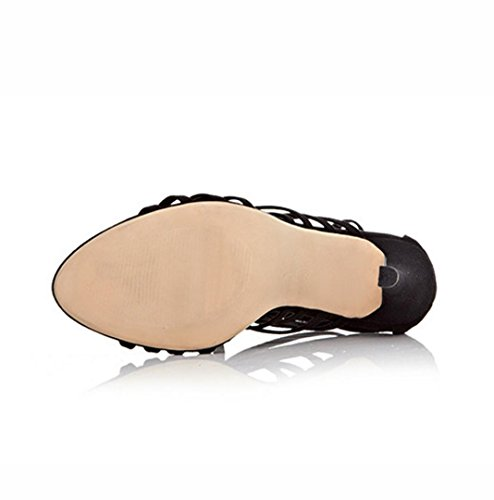 Les nouveaux talons, Mme une mince bande de sandales creuses, talons hauts 45 verges Mme King 38