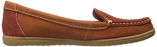 Hush Puppies Women's Ryann Claudine Chocolate Leather Loafer 5.5 M (B) Dark Orange