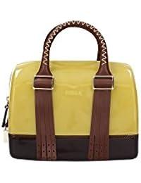 FURLA - Bolso de asas para mujer amarillo amarillo