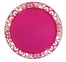 Adiserve sous-Assiette Ronde 30 cm Rose Magenta par 4