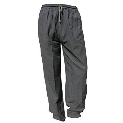 PANASIAM E'Pants Long, Cotton, d.Grey, L