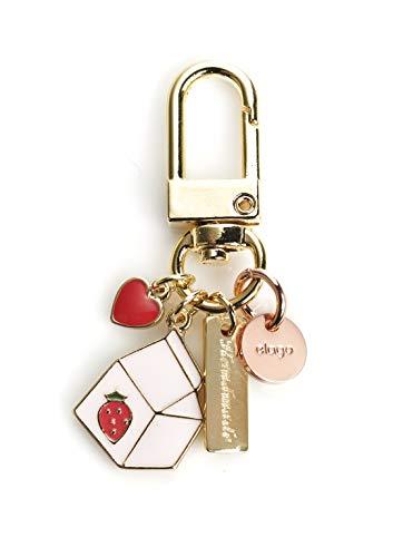 elago Schlüsselanhänger Zubehör Kompatibel mit Apple AirPods 1 & 2 - [Keyring for AirPods] [Süßes Design] [Schlüsselringe für Handtasche, Tasche, Rucksack, Geldbeutel, Auto] (Erdbeermilch) - 1-dollar-schlüsselanhänger