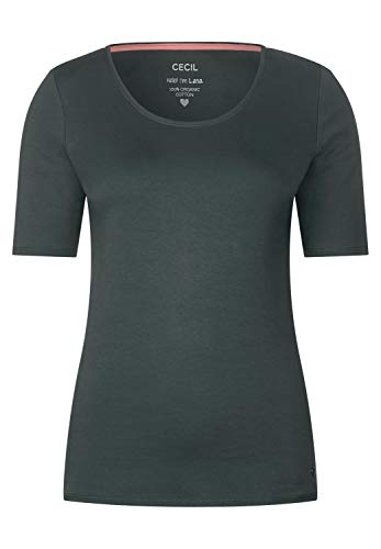 Cecil Damen 311780 Lena T-Shirt, Slate Green, Small (Herstellergröße:S)